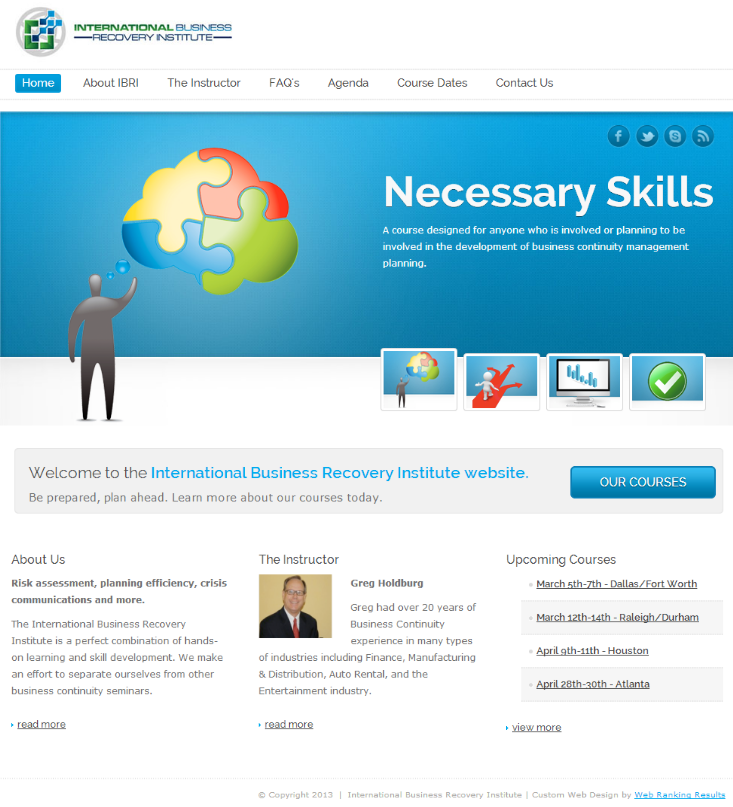 Business Recovery Web Design